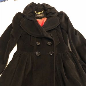 Ladies beautiful wool long swing coat